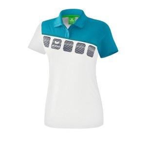 erima-5-c-poloshirt-damen-weiss-blau-fussball-teamsport-textil-poloshirts-1111919.png