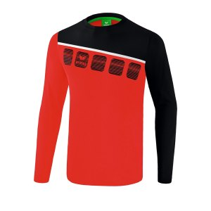 erima-5-c-longsleeve-kids-rot-schwarz-fussball-teamsport-textil-sweatshirts-1331902.png