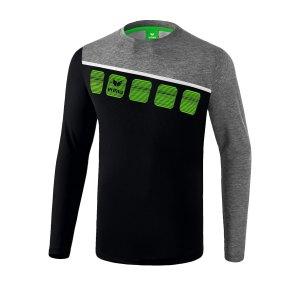 erima-5-c-longsleeve-kids-schwarz-grau-fussball-teamsport-textil-sweatshirts-1331904.png