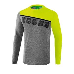 erima-5-c-longsleeve-grau-gruen-fussball-teamsport-textil-sweatshirts-1331908.png