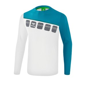 erima-5-c-longsleeve-kids-weiss-blau-fussball-teamsport-textil-sweatshirts-1331909.png