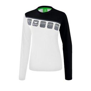erima-5-c-longsleeve-damen-weiss-schwarz-fussball-teamsport-textil-sweatshirts-1331912.png