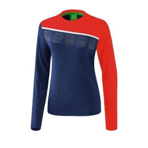 erima-5-c-longsleeve-damen-blau-rot-fussball-teamsport-textil-sweatshirts-1331916.png