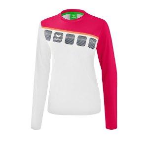 erima-5-c-longsleeve-kids-weiss-fussball-teamsport-textil-sweatshirts-1331918.png