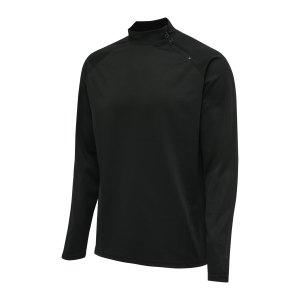 hummel-hmlaction-halfzip-sweatshirt-schwarz-f2345-210997-teamsport_front.png
