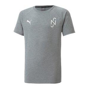 puma-njr-evostripe-t-shirt-kids-grau-f05-605630-fussballtextilien_front.png