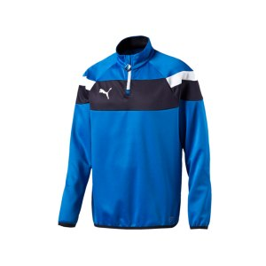 puma-spirit-2-1-4-zip-trainingstop-sweatshirt-reissverschluss-teamsport-vereine-men-herren-blau-f02-654657.png