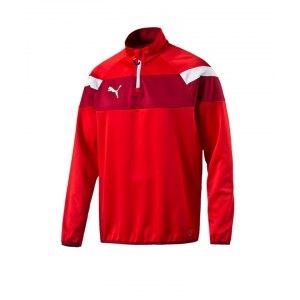 puma-spirit-2-1-4-zip-trainingstop-sweatshirt-reissverschluss-teamsport-vereine-men-herren-rot-f01-654657.png