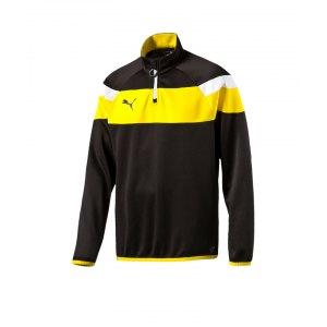 puma-spirit-2-1-4-zip-trainingstop-kids-schwarz-f37-sweatshirt-reissverschluss-teamsport-vereine-mannschaft-kinder-654657.png