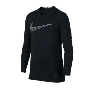 nike-pro-training-top-kids-schwarz-weiss-f011-underwear-langarm-858230.png