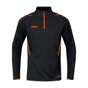 jako-challenge-ziptop-schwarz-orange-f807-8621-teamsport_front.png