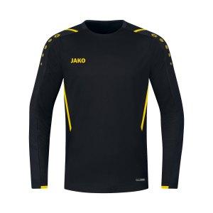 jako-challenge-sweatshirt-schwarz-gelb-f803-8821-teamsport_front.png