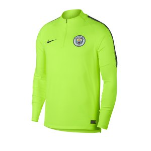 Nike Manchester City Dry Squad T Shirt Gelb F823