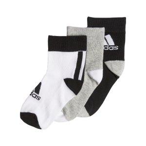 adidas-ankle-socken-kids-3er-pack-schwarz-grau-fn0997-fussballtextilien_front.png