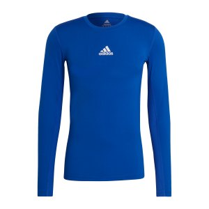 adidas-techfit-shirt-langarm-blau-gu7335-underwear_front.png