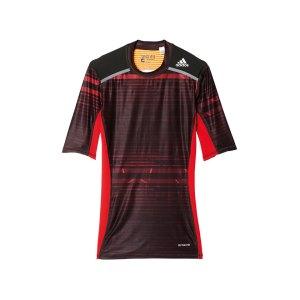 adidas-tech-fit-chill-tee-t-shirt-schwarz-rot-underwear-sport-team-training-ay8365.jpg