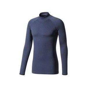 adidas-tech-fit-climaheat-ls-mock-dunkelblau-bq4985-underwear-langarm-unterziehhemd-longsleeve.png