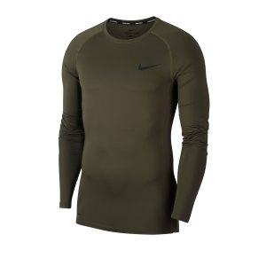 nike-pro-shirt-longsleeve-gruen-f325-underwear-langarm-bv5588.png