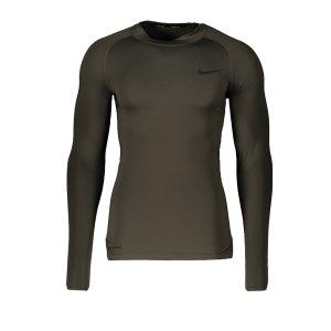 nike-pro-shirt-shortsleeve-gruen-f325-underwear-kurzarm-bv5592.png