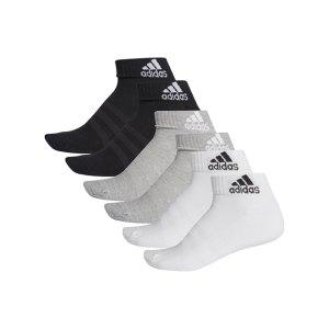 adidas-cushioned-ankle-socken-6er-pack-grau-weiss-dz9361-fussballtextilien_front.png