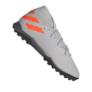 adidas-nemeziz-19-3-tf-grau-orange-fussball-schuhe-turf-ef8291.png