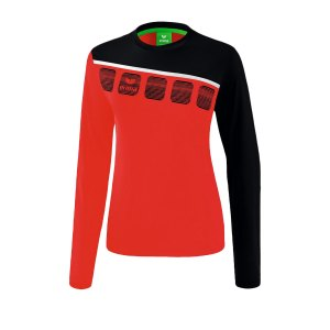 erima-5-c-longsleeve-damen-rot-schwarz-fussball-teamsport-textil-sweatshirts-1331911.png