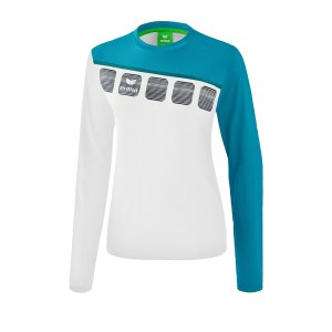 erima-5-c-longsleeve-damen-weiss-blau-fussball-teamsport-textil-sweatshirts-1331919.png