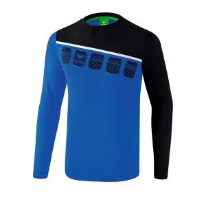 erima-5-c-longsleeve-kids-blau-schwarz-fussball-teamsport-textil-sweatshirts-1331901.png