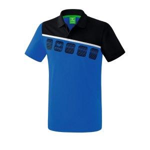 erima-5-c-poloshirt-blau-schwarz-fussball-teamsport-textil-poloshirts-1111901.png