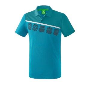 erima-5-c-poloshirt-blau-weiss-fussball-teamsport-textil-poloshirts-1111910.png