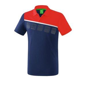 erima-5-c-poloshirt-kids-blau-rot-fussball-teamsport-textil-poloshirts-1111907.png