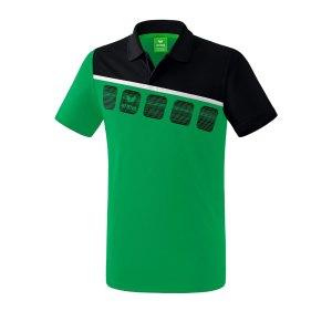 erima-5-c-poloshirt-kids-gruen-schwarz-fussball-teamsport-textil-poloshirts-1111905.png