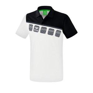 erima-5-c-poloshirt-kids-weiss-schwarz-fussball-teamsport-textil-poloshirts-1111903.png