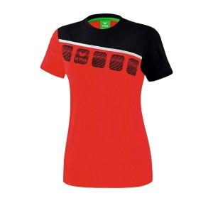 erima-5-c-t-shirt-damen-rot-schwarz-fussball-teamsport-textil-t-shirts-1081912.png