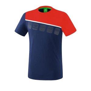 erima-5-c-t-shirt-kids-blau-rot-fussball-teamsport-textil-t-shirts-1081907.png