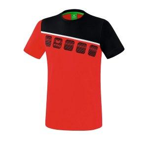 erima-5-c-t-shirt-rot-schwarz-fussball-teamsport-textil-t-shirts-1081902.png