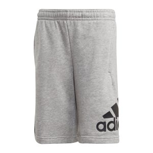 adidas-badge-of-sport-short-kids-grau-schwarz-fm6461-lifestyle_front.png
