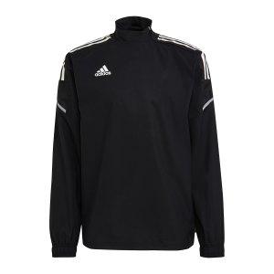 adidas-condivo-21-hybrid-sweatshirt-schwarz-ge5414-teamsport_front.png