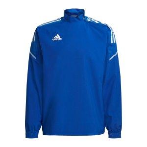 adidas-condivo-21-hybrid-sweatshirt-blau-weiss-gh7169-teamsport_front.png