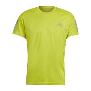 adidas-own-the-run-t-shirt-running-gelb-gj9965-laufbekleidung_front.png