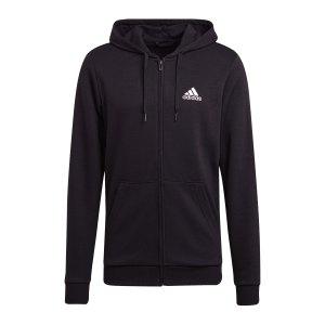 adidas-essentials-kapuzenjacke-schwarz-weiss-gk9044-fussballtextilien_front.png