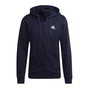 adidas-essentials-kapuzenjacke-blau-weiss-gk9045-fussballtextilien_front.png