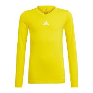 adidas-team-base-top-langarm-kids-gelb-gn7514-underwear_front.png