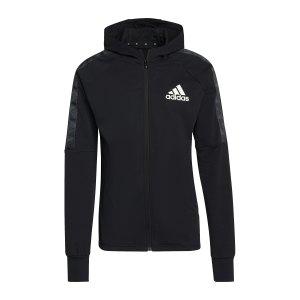 adidas-d2m-kapuzenjacke-schwarz-weiss-gv5302-laufbekleidung_front.png