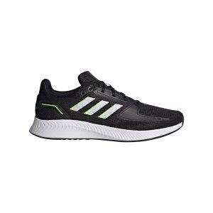 adidas-runfalcon-2-0-running-schwarz-weiss-gelb-gz8796-laufschuh_right_out.png
