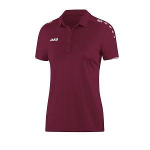 jako-classico-poloshirt-damen-dunkelrot-f14-fussball-teamsport-textil-poloshirts-6350.png