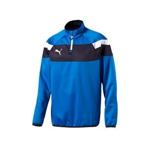 puma-spirit-2-1-4-zip-trainingstop-sweatshirt-reissverschluss-teamsport-vereine-men-herren-blau-f02-654657.png