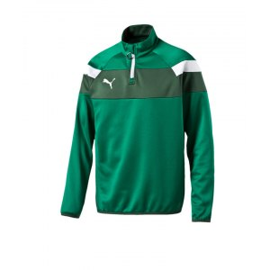 puma-spirit-2-1-4-zip-trainingstop-sweatshirt-reissverschluss-teamsport-vereine-men-herren-gruen-f05-654657.png