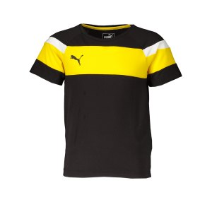 puma-spirit-ii-leisure-t-shirt-kids-schwarz-gelb-fussball-teamsport-textil-t-shirts-654659.png