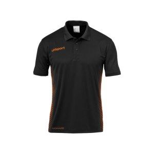 uhlsport-score-poloshirt-kids-schwarz-orange-f09-teamsport-mannschaft-oberteil-bekleidung-textilien-1002148.png